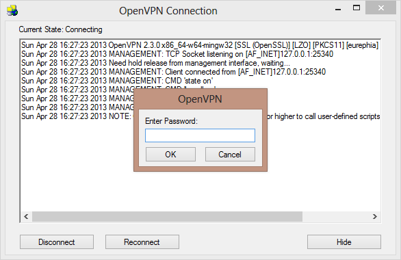 OpenVPN Password